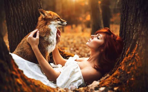 Bella with a fox