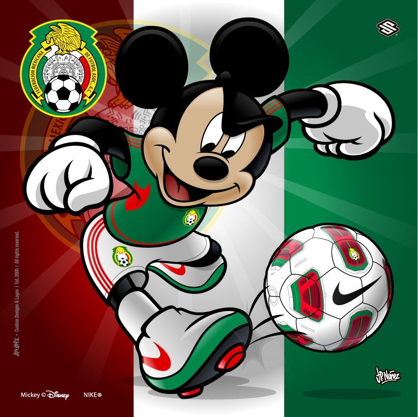 Mexico Soccer Mickey by jpnunezdesigns