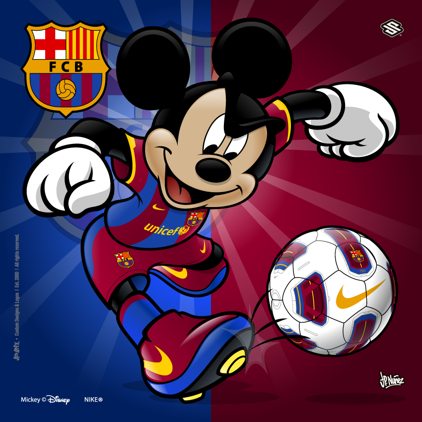 Barcelona Soccer Mickey by jpnunezdesigns