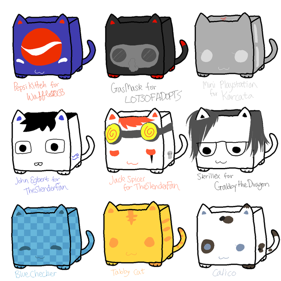 CubeCats: Custom Sheet 12 + 3 by Sanza-tan