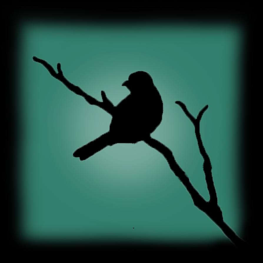 Sitting bird Silhouette by lizzyc7 on DeviantArt