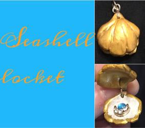 Seashell locket by DragonQueen33
