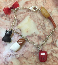 Kiki's delivery service charm bracelet by DragonQueen33