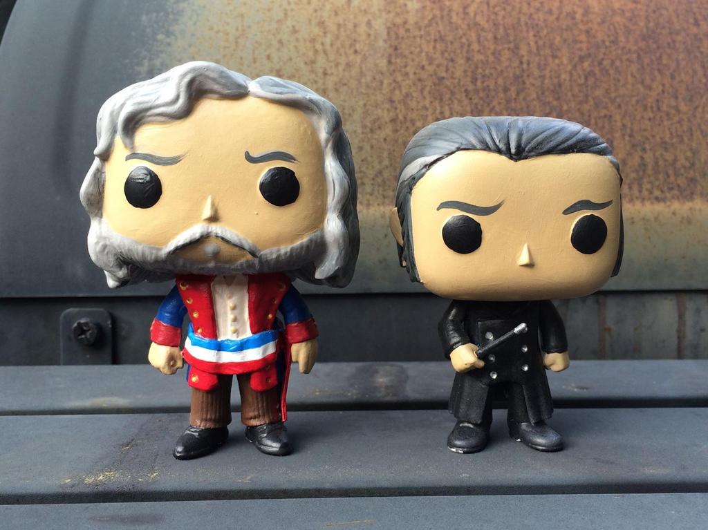 Custom FunkoPOP - Valjean and Javert by auryanne