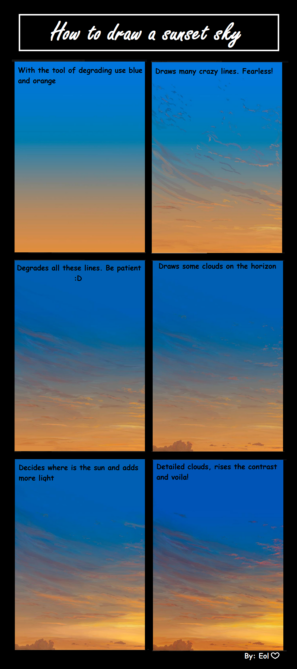 How To Draw A Sunset Sky By EolSB On DeviantArt