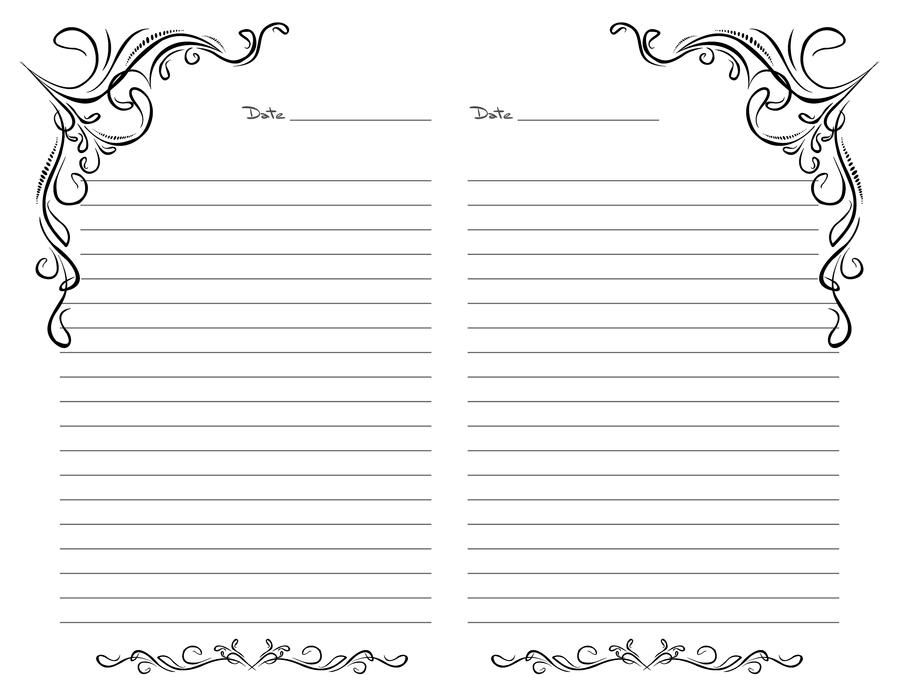 This is a picture of Fabulous Free Printable Journal Pages Lined