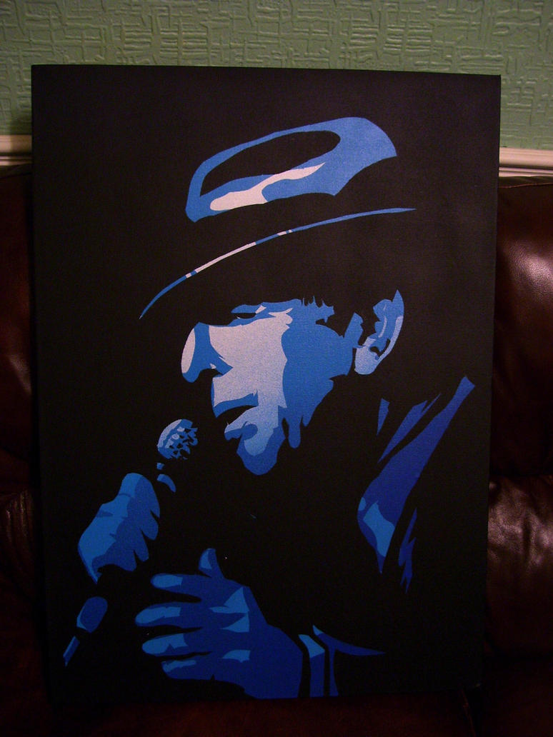 Leonard Cohen Stencil, 2 Layers by Zombie-Pacman