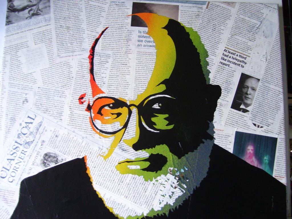 James Randi stencil, 2 layers by Zombie-Pacman