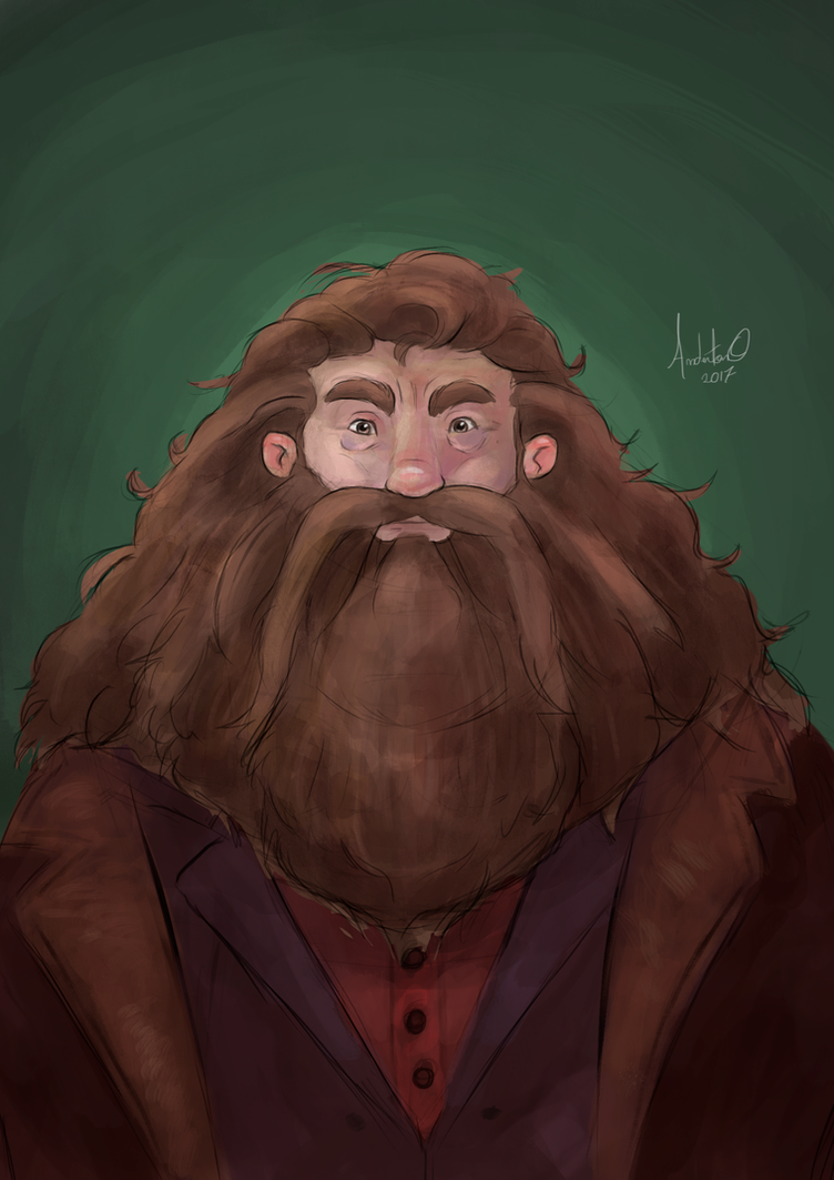 Hagrid Portrait by AndertonOliveira