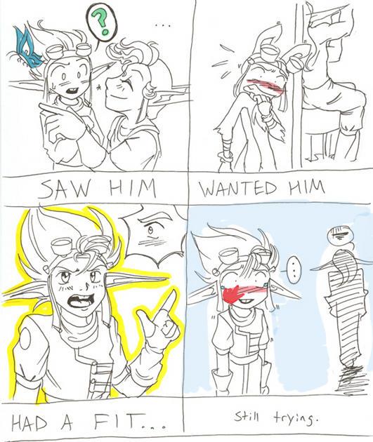 Saw him- JAMish YAOI comic by Demyrie