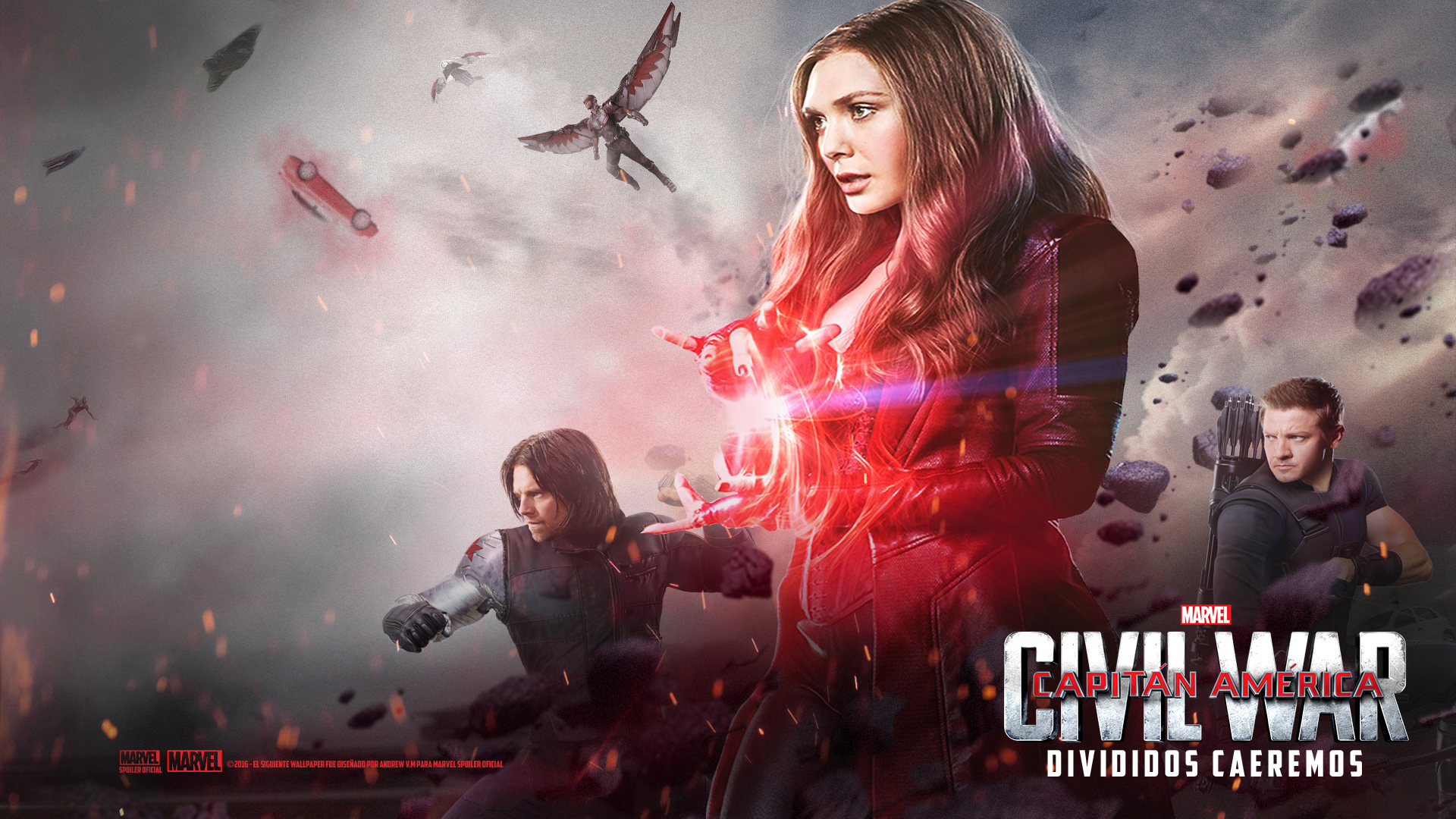 Capitan America CIVIL WAR Scarlet Witch HD Wallp By Andrewvm
