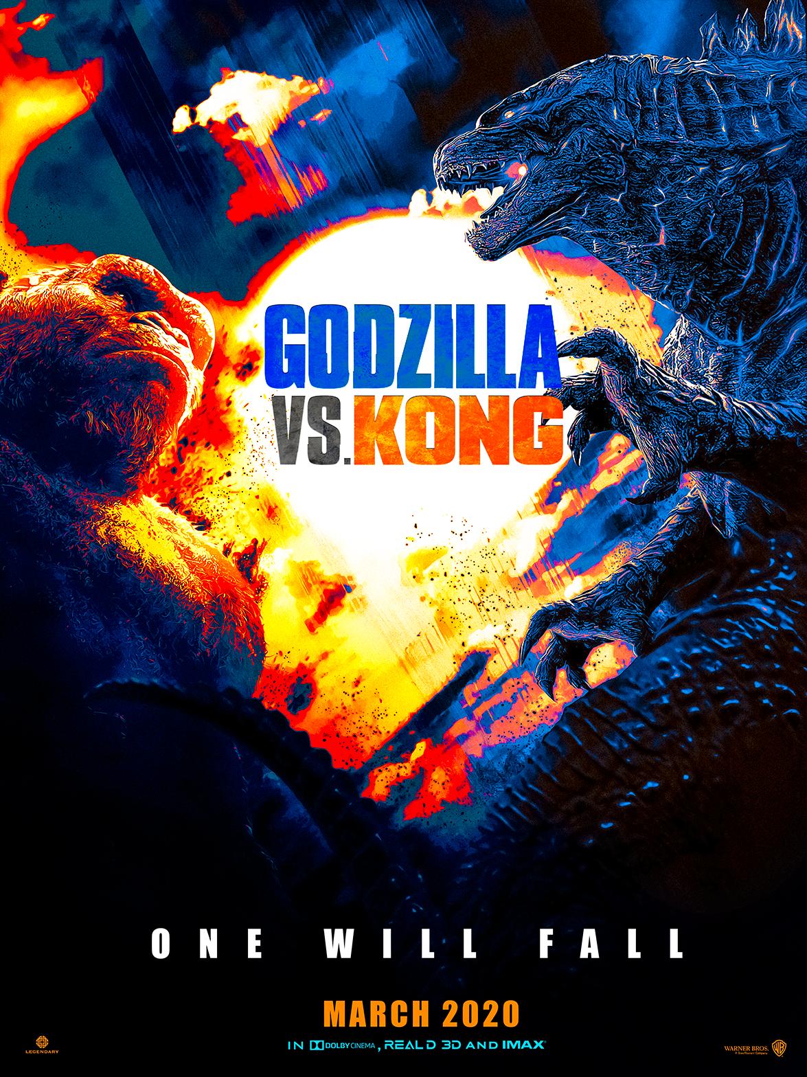 Godzilla Vs Kong Poster Andrewvm By Andrewvm On Deviantart