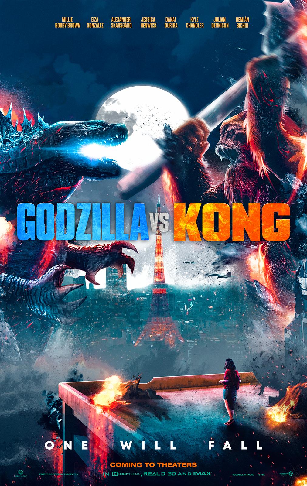 Godzilla Vs Kong Poster Faight Hd By Andrewvm On Deviantart