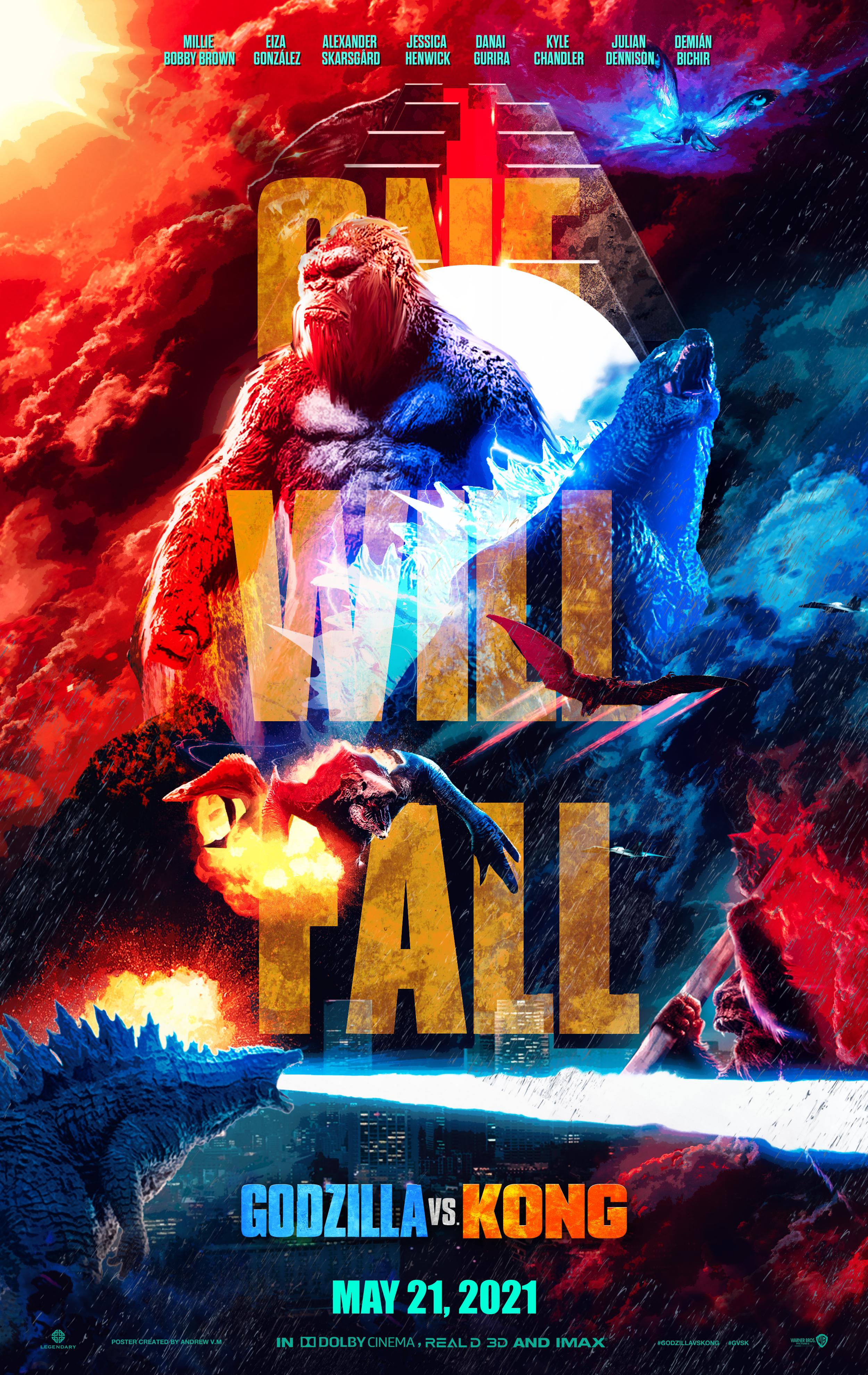 Godzilla Vs Kong Poster All By Andrewvm On Deviantart