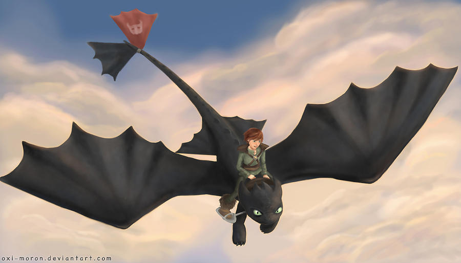 Toothless and Hiccup by oxi-moron on DeviantArt