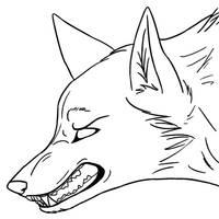 Angry wolf lineart by akokolupe