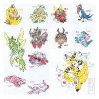 buncha Pokemons by Luluugah