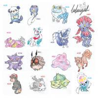 buncha pokemons AGAIN ! by Luluugah