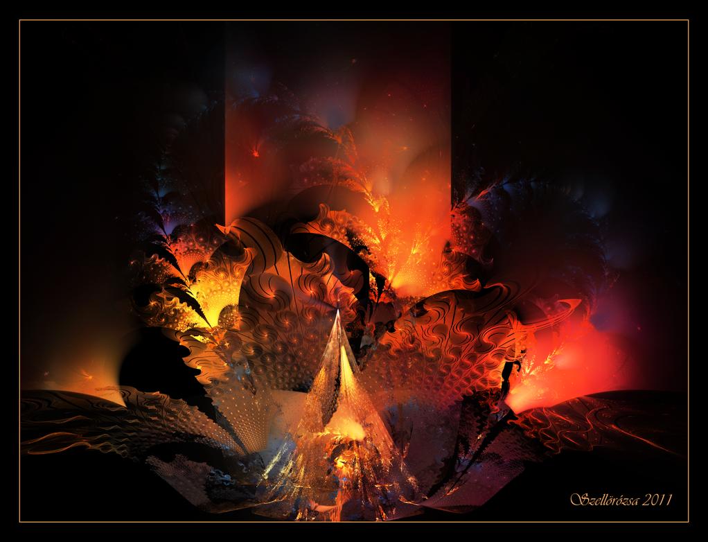 Piramide de Fuego by Szellorozsa