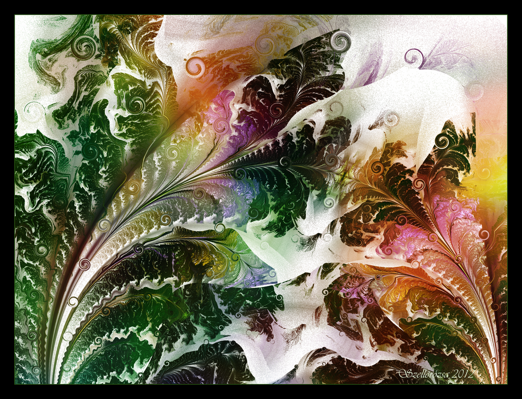 Rainforest Ferns by Szellorozsa