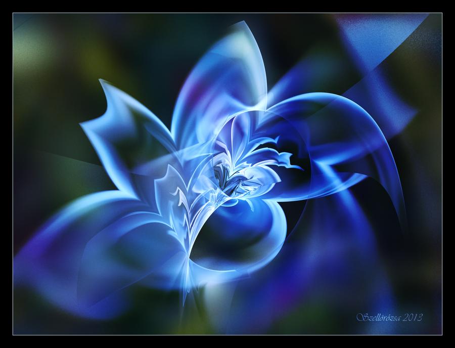Elusive Blue by Szellorozsa