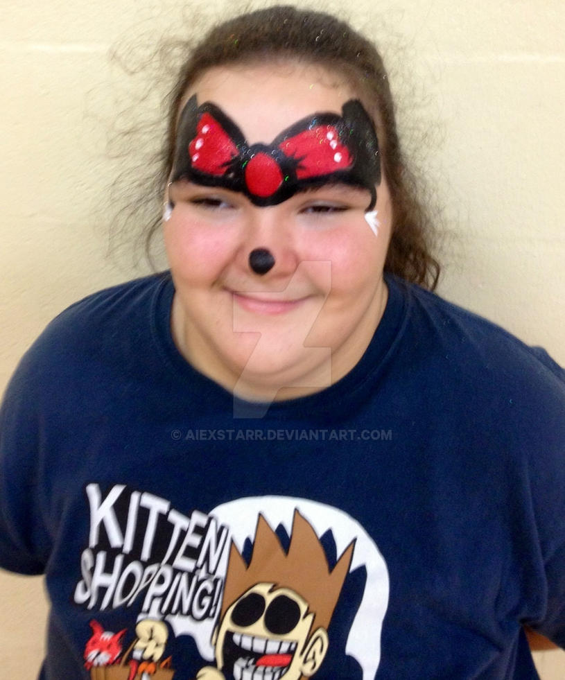 Me with Minnie Mouse face painting by aIexstarr on DeviantArt