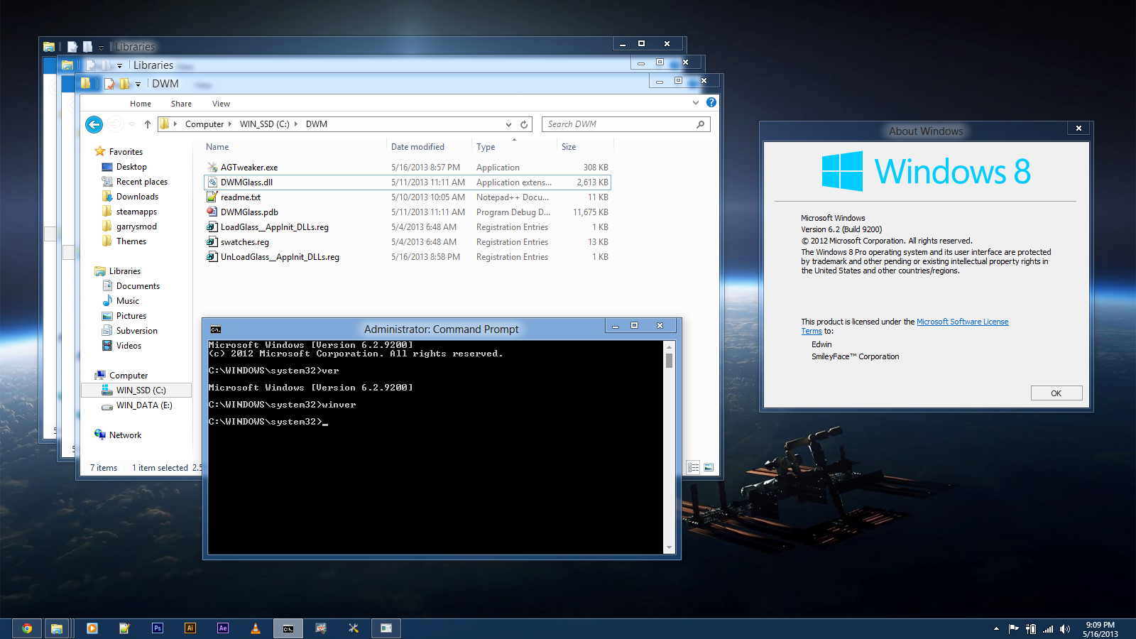 how to find ports on windows 8