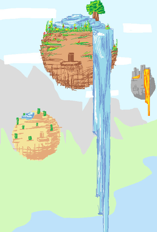 Minecraft Floating Biome Homes by MarshmallowInvader