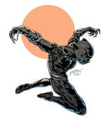 Anothger Black Panther Illustration by gemgfx
