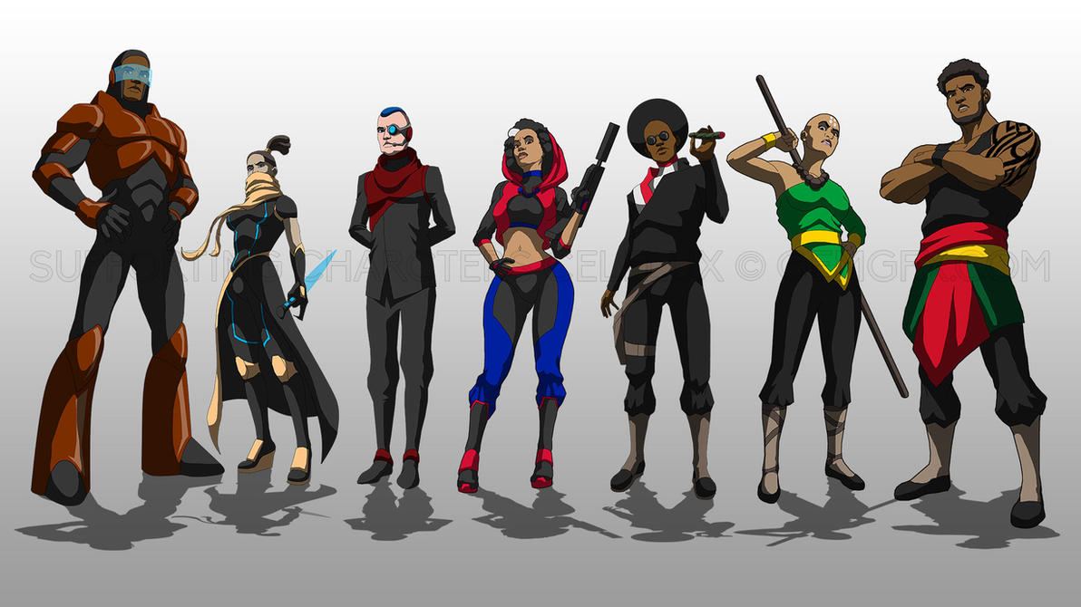 Celflux Supporting Characters by gemgfx