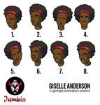 Giselle Expression Sheet by gemgfx