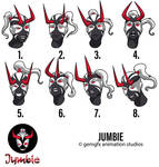 Jumbie Expression Sheet by gemgfx