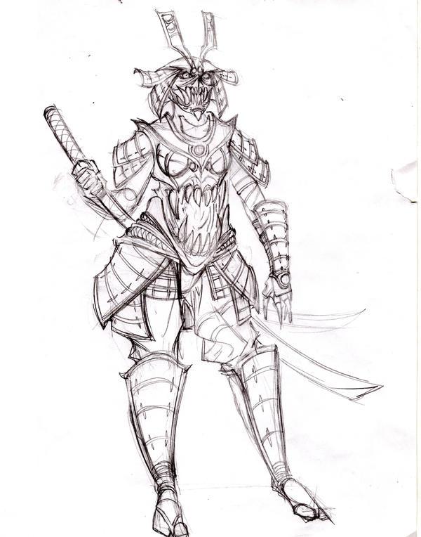 demon samurai design by olodumare on deviantart