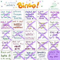 a suffering artist's bingo !!! by Miniaru