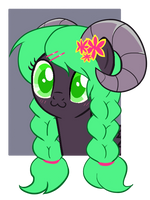 cute ram pony headshot adopt -close by Miniaru