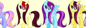 Wet-maned Ponies - 2/4 Open by Miniaru