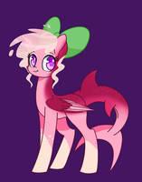 Pinkie Sweet Shark Pony by Miniaru