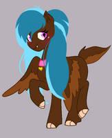 Blue-maned Wolf Pony by Miniaru