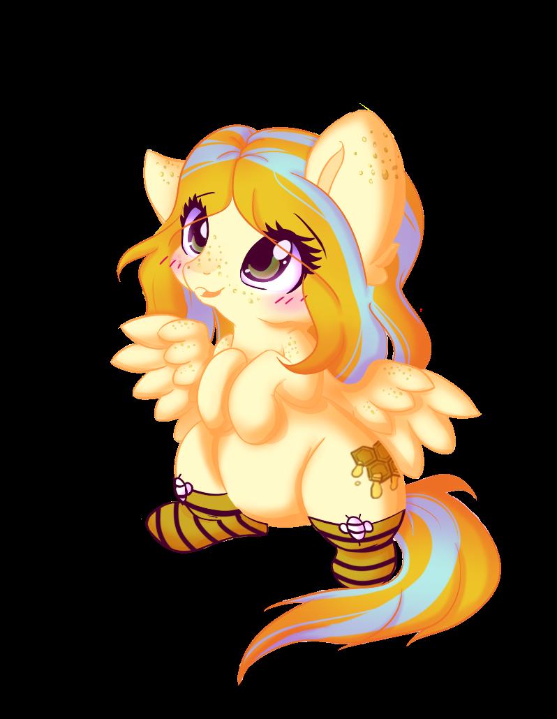 Glitter Bee -ych- by Miniaru