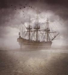 Boat in sky by 836675