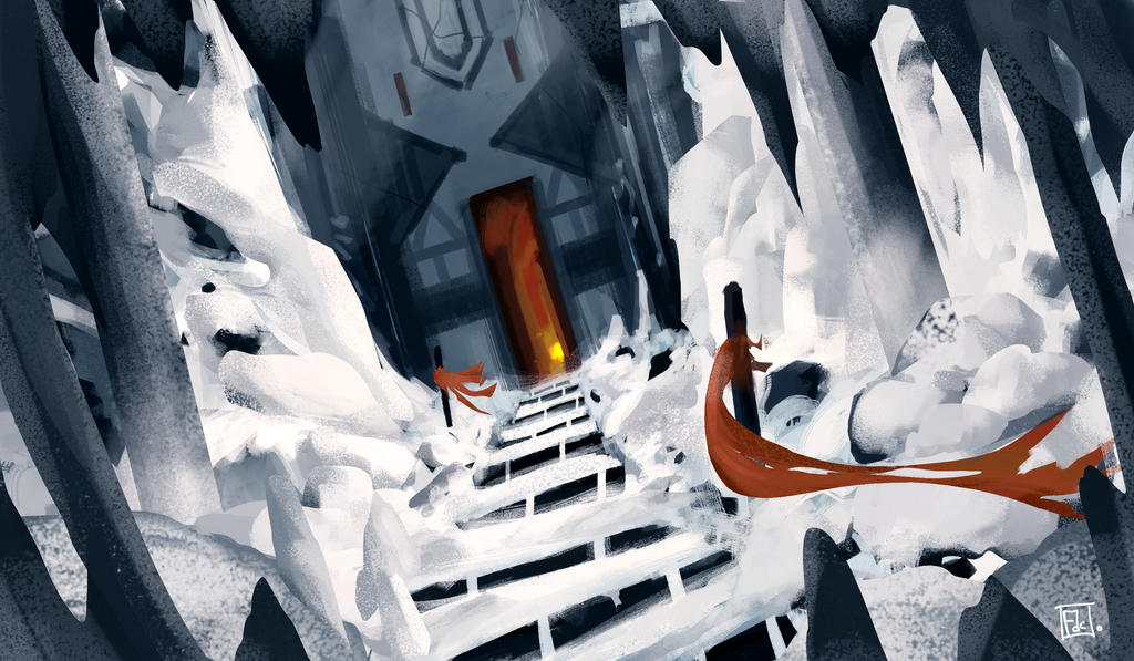 Ice cave enviroment by CarabARTS