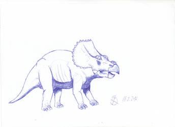 Triceratops (Pen) by Isla-Nublar-Crew