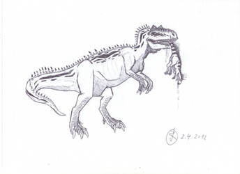 Allosaurus on the prowl by Isla-Nublar-Crew