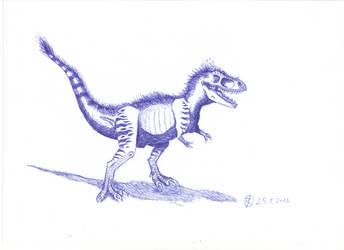 Tyrannosaurus chick by Isla-Nublar-Crew