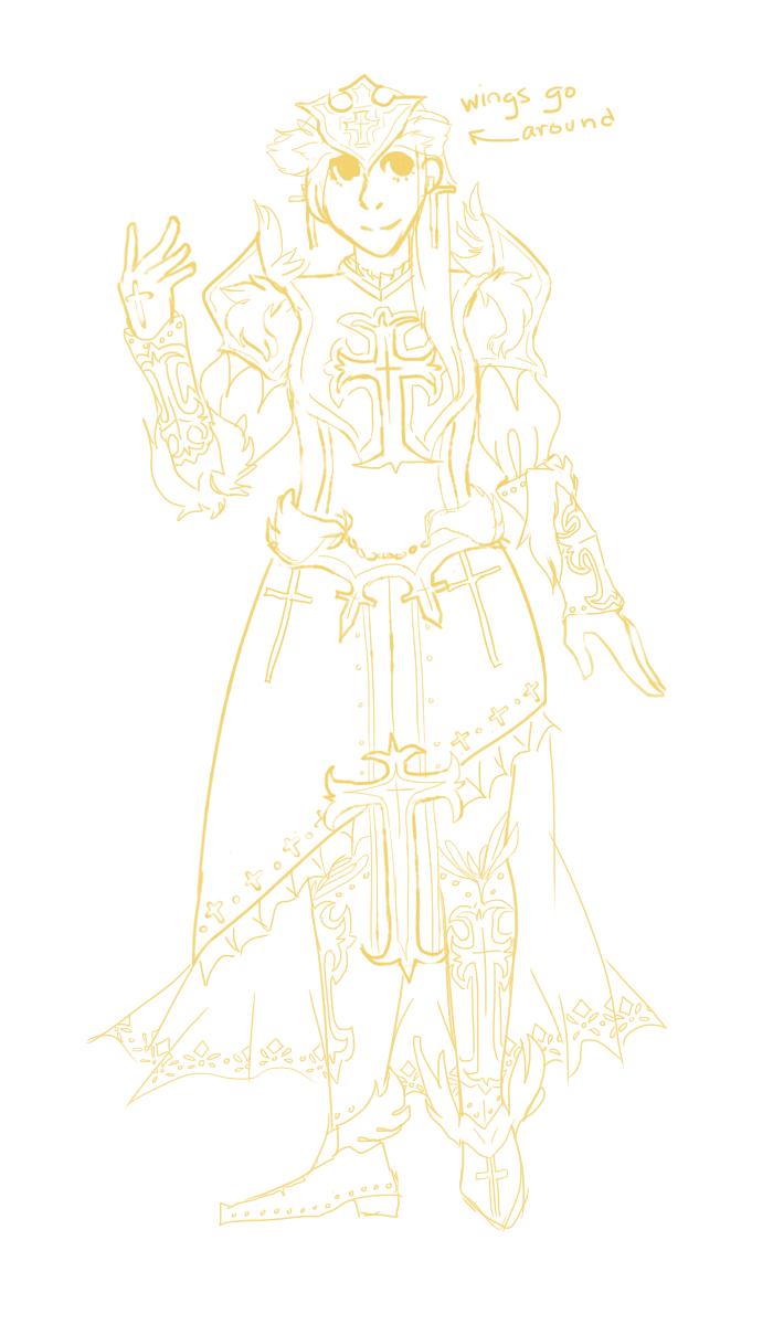 prisca/lucia armor sketch by PangoPango1