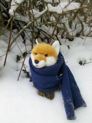 Fox in the snow by RakuenGrowlithe