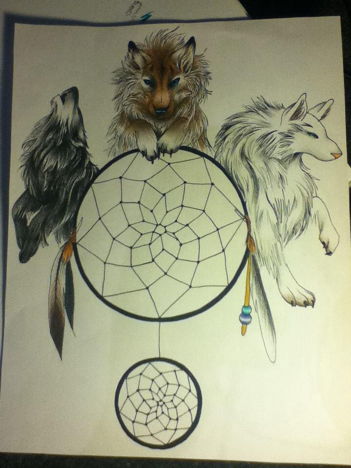wolf dreamcatcher drawing related - photo #29