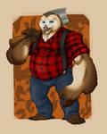Comm - Owlbear Lumberjack