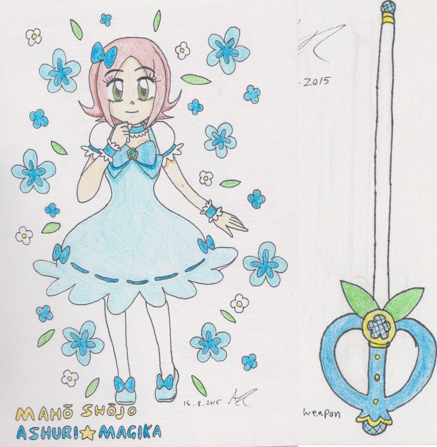 Puella Magi Ashlee Magica + Weapon by AshRob89