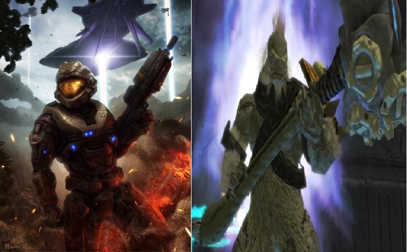 Noble 6 VS Tartarus by Realsmmk on DeviantArt Halo Master Chief Vs Arbiter